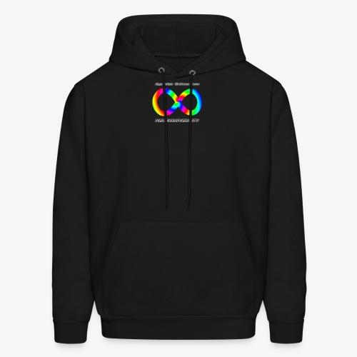 Embrace Neurodiversity with Swirl Rainbow - Men's Hoodie