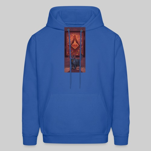 666 Three Eyed Satanic Kitten with Stained Glass - Men's Hoodie