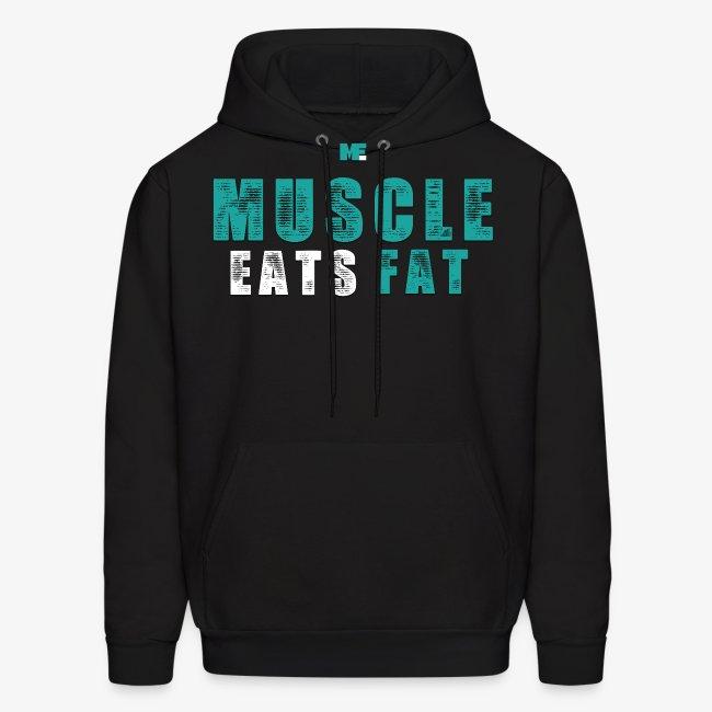 Muscle Eats Fat (Aqua White)