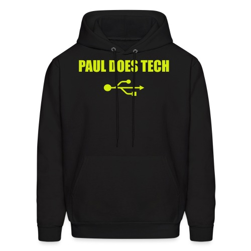 Paul Does Tech Logo Yellow With USB (BS) - Men's Hoodie