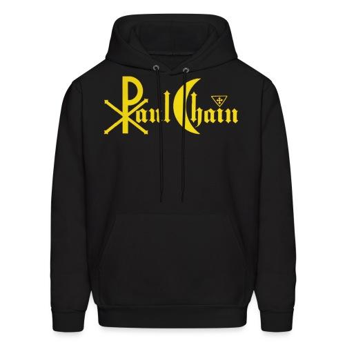 Paul Chain Coffee Mug ~ Yellow on Red - Men's Hoodie