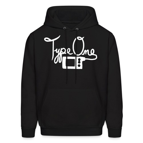 Type One - Insulin Pump 2- White - Men's Hoodie