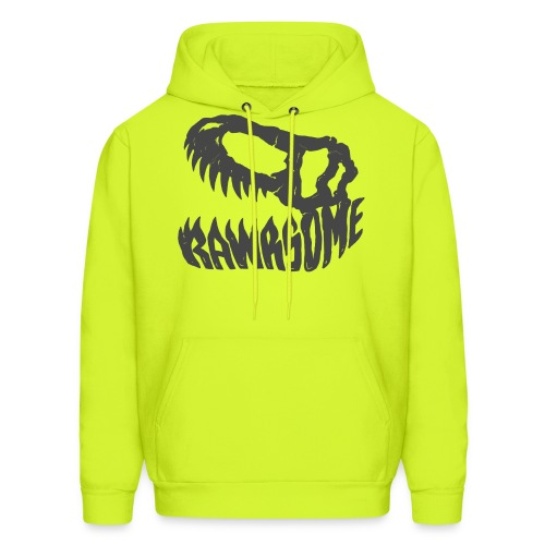 RAWRsome T Rex Skull by Beanie Draws - Men's Hoodie