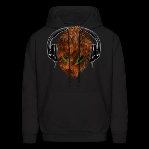 Cuddly Furry Alien DJ with Headphones - Men's Hoodie
