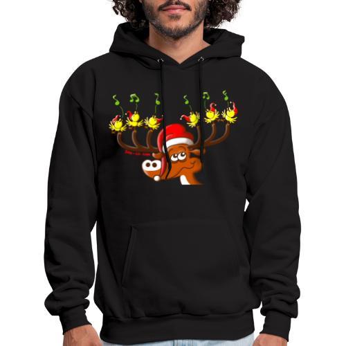 Birds' and Deer's Christmas Concert - Men's Hoodie
