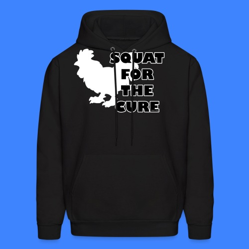 Squat For The Cure - Black (female) - Men's Hoodie