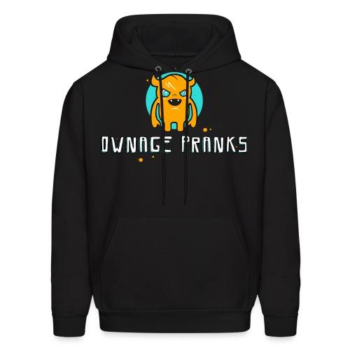 ownagepranks logo orange - Men's Hoodie