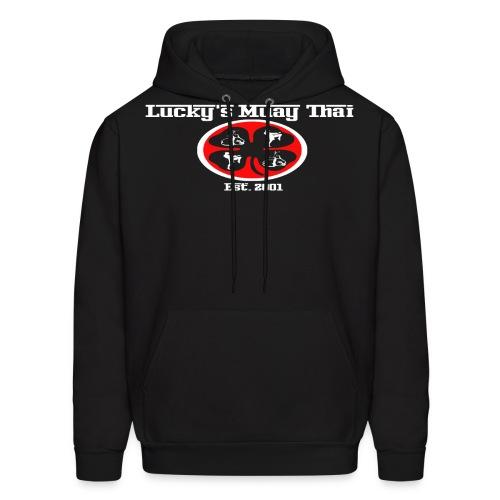 monster logo wht png - Men's Hoodie
