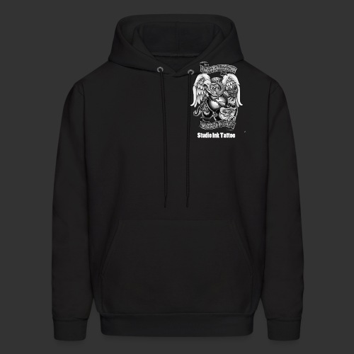 marine t front logo black and white.png T-Shirts - Men's Hoodie