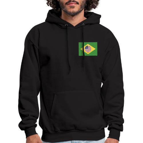 Brazil and USA Flag - Men's Hoodie
