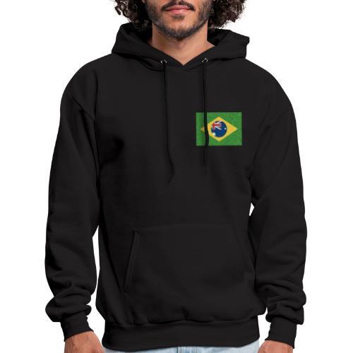 Brazil flag with Australia Twist - Men's Hoodie