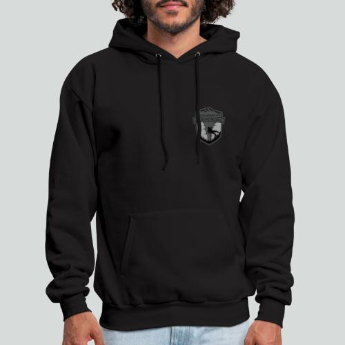 ROCKY MOUNTAIN CANYONING-on dark back-2side-2 logo - Men's Hoodie