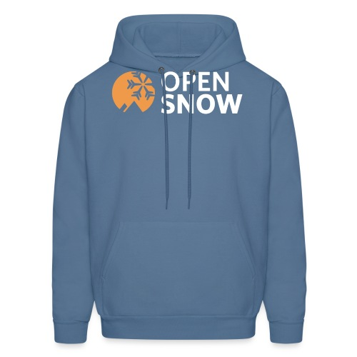 OpenSnow Logo Horizontal White - Men's Hoodie