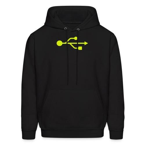 Yellow USB Logo Mid - Men's Hoodie