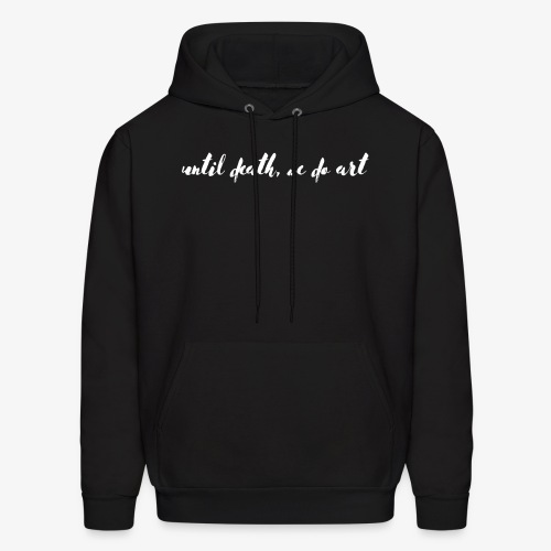 Until Death White Text - Men's Hoodie