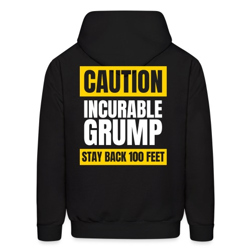 Incurable Grump US Version - With Team Grump Badge - Men's Hoodie