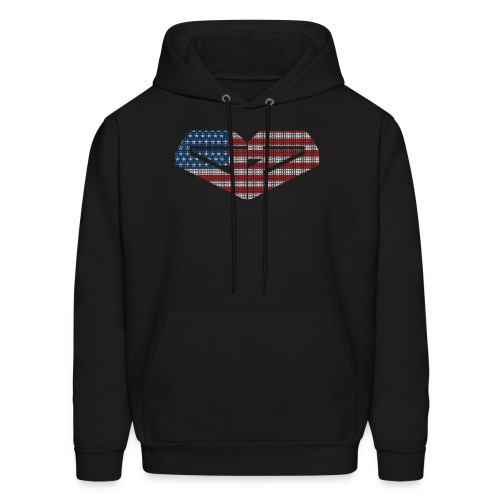 Ginger Beats FEMALE Murica resize png - Men's Hoodie