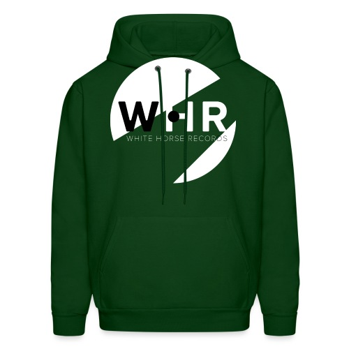 White Horse Records Logo - Black - Men's Hoodie