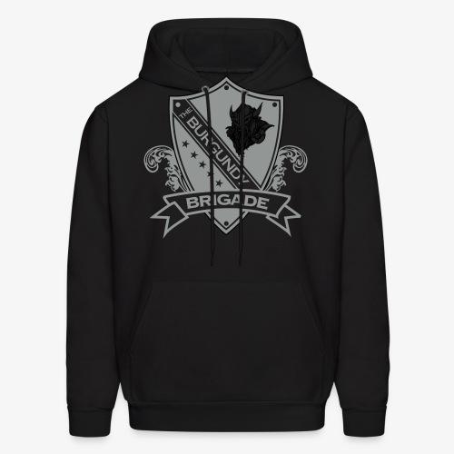 Burgundy Brigade Logo - Men's Hoodie
