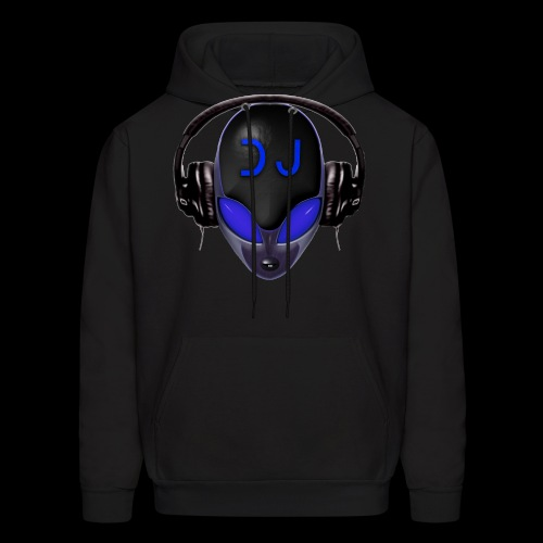 Alien Wicked DJ - Blue - Hard Shell Bug Design - Men's Hoodie
