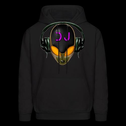 Alien DJ - Orange - Hard Shell Bug - Men's Hoodie