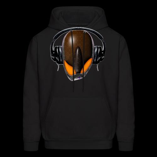 Reptoid Alien Angry DJ in Headphones - Cartoonish - Men's Hoodie