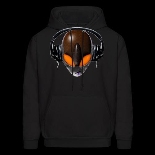 Reptoid Orange Alien DJ Music Lover - Men's Hoodie