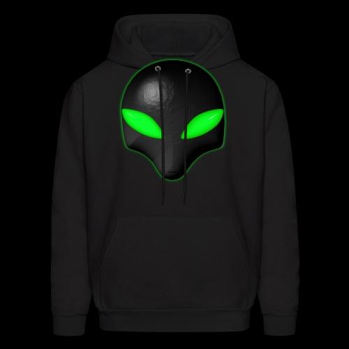 Alien Bug Face Green Eyes - Men's Hoodie