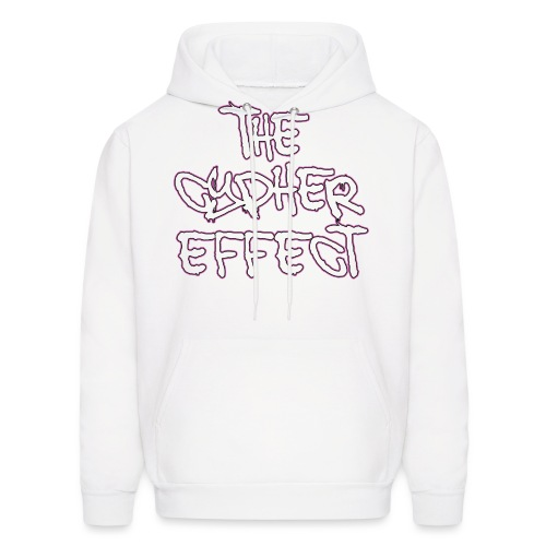 pink outline tce2 png - Men's Hoodie