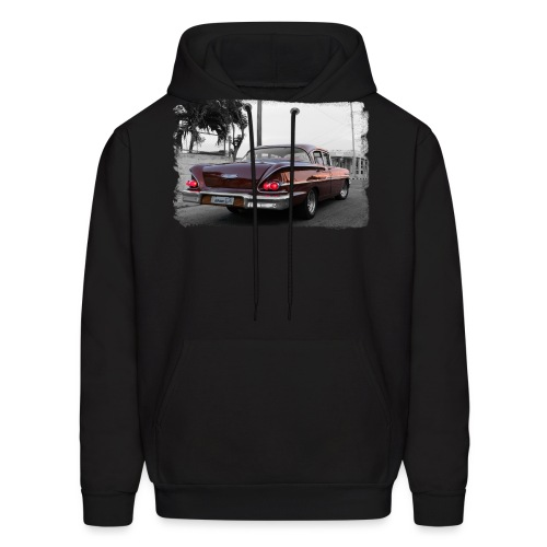 wine red car - Men's Hoodie