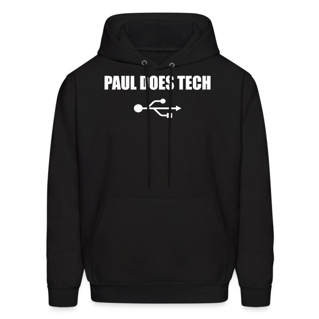 Paul Does Tech White Logo With USB