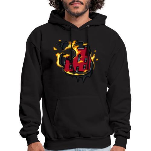BAB Logo on FIRE! - Men's Hoodie