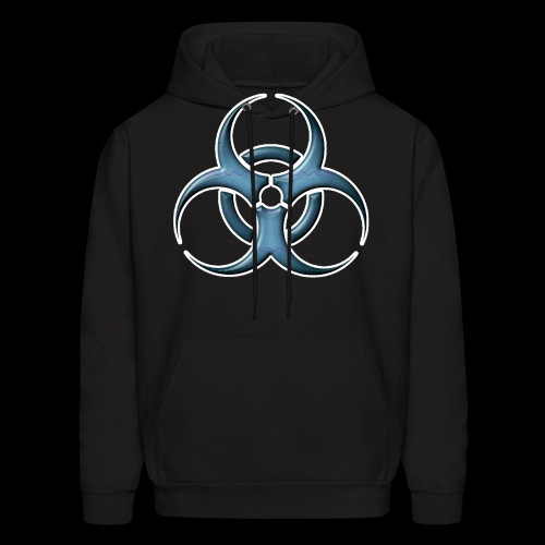 Bio-hazard Stylized Blue Emblem - Men's Hoodie