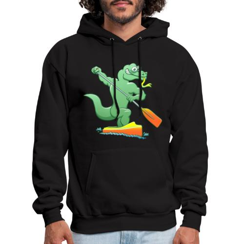 Water Monitor Competing in a Canoe Sprint Event - Men's Hoodie