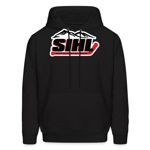 SIHL Logo White Outlined - Men's Hoodie