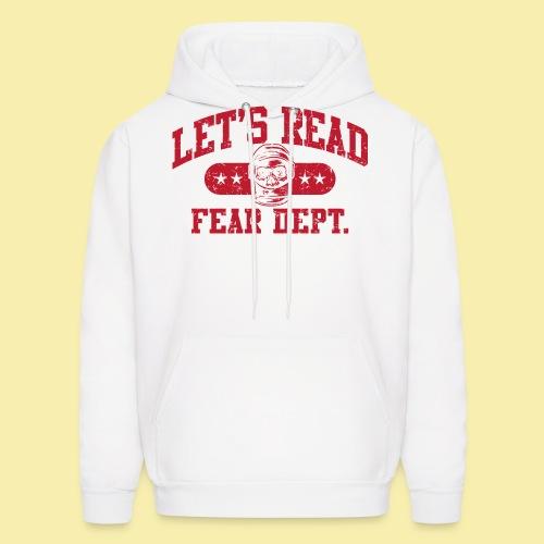 Fear Dept - Athletic Red - Inverted - Men's Hoodie