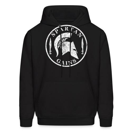Spartan Gains Logo fuer schwarzes Shirt png - Men's Hoodie