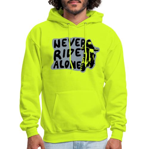 Never Ride Alone White - Men's Hoodie