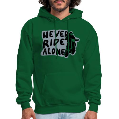 Never Ride Alone White - Men's Hoodie