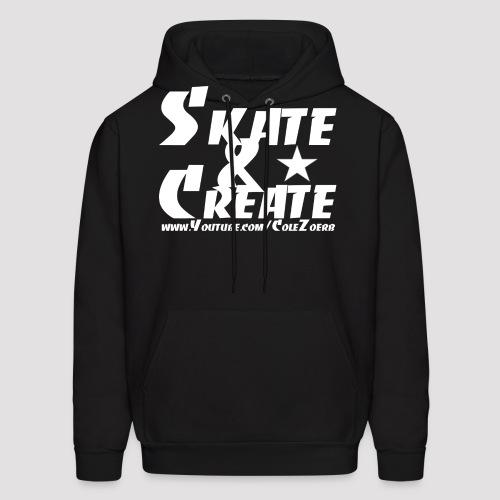 SkateandCreate Wht png - Men's Hoodie