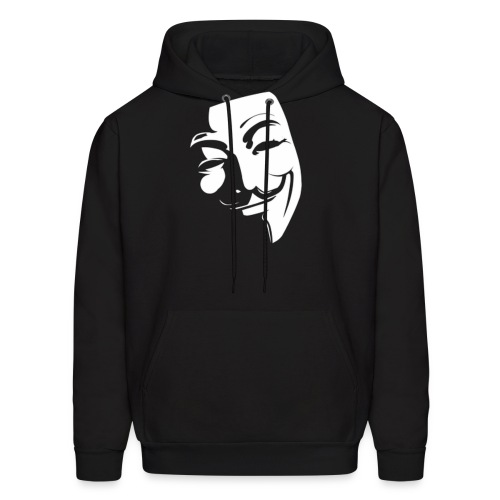 anonface large gif - Men's Hoodie