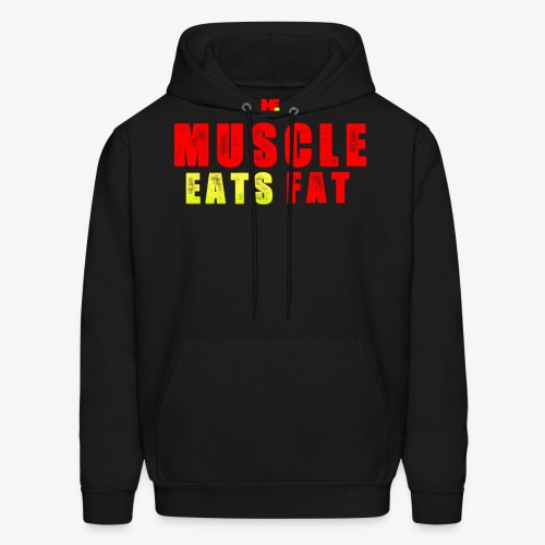 Muscle Eats Fat Red Greenish Edition - Men's Hoodie
