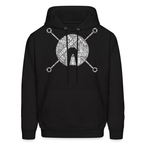 Shad0w Synd1cate Word Cloud (White logo) - Men's Hoodie