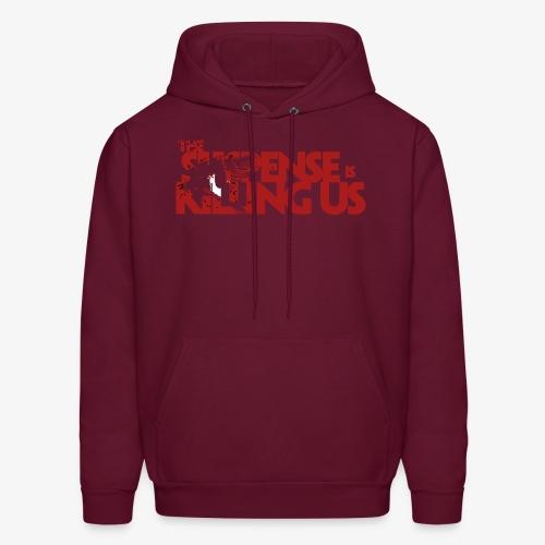 Suspsense Is Killing Us Blood Red Logo - Men's Hoodie