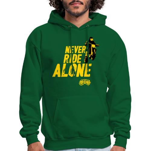 Never Ride Alone Black - Men's Hoodie