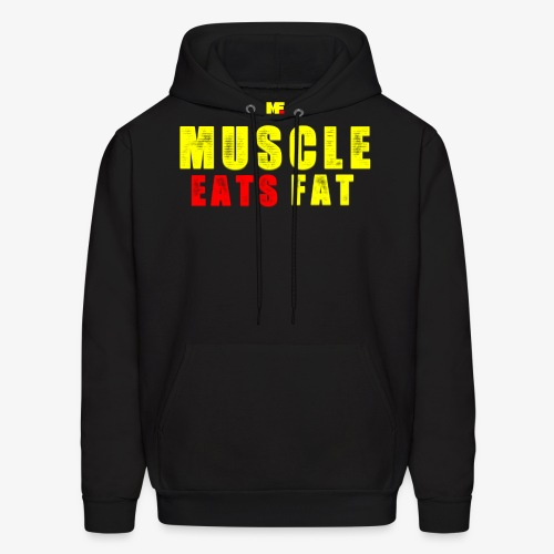 Muscle Eats Fat Yellow Red Edition - Men's Hoodie