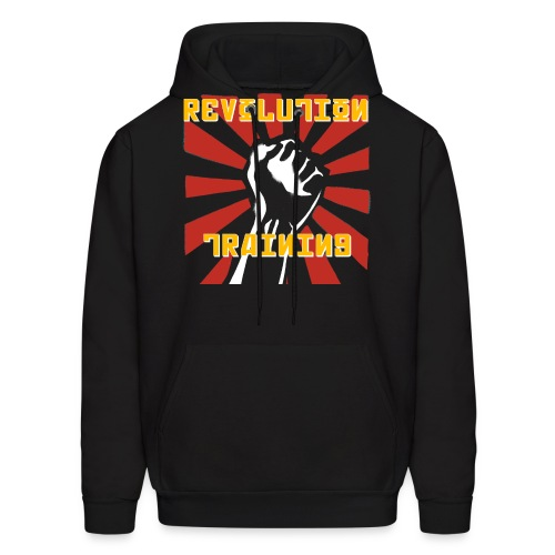 revolution shirt front black - Men's Hoodie