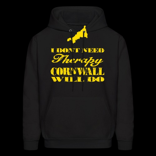 Don't need therapy/Cornwall - Men's Hoodie