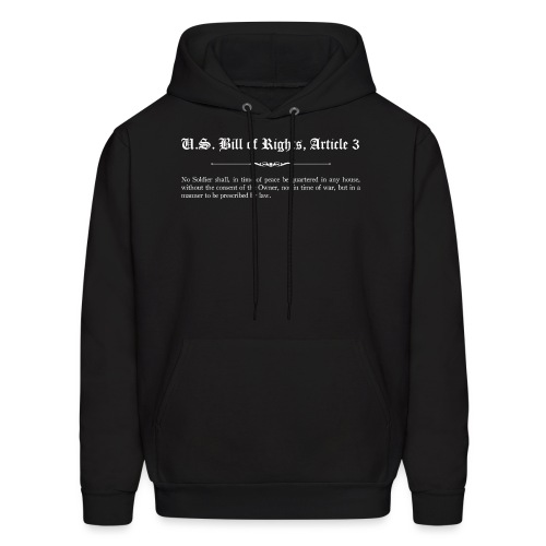 U.S. Bill of Rights - Article 3 - Men's Hoodie
