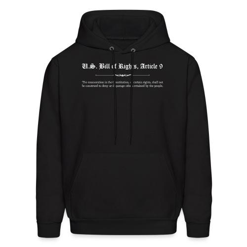 U.S. Bill of Rights - Article 9 - Men's Hoodie